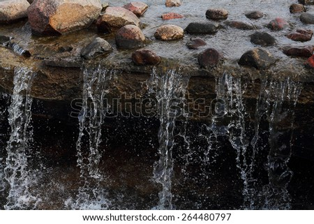 Raging river - stock photo
