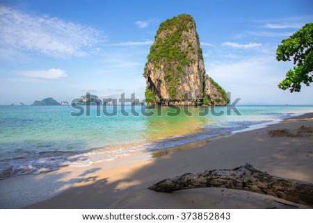 Railay Beach in Krabi - stock photo