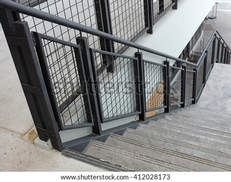 railing of stair - stock photo