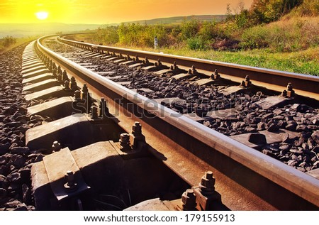 railroad - stock photo