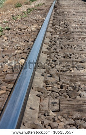 Railroad as a background - stock photo