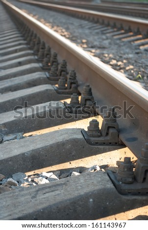 railroad close-up - stock photo
