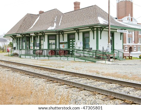 Railroad Museum, Gorham, New Hampshire, USA - stock photo