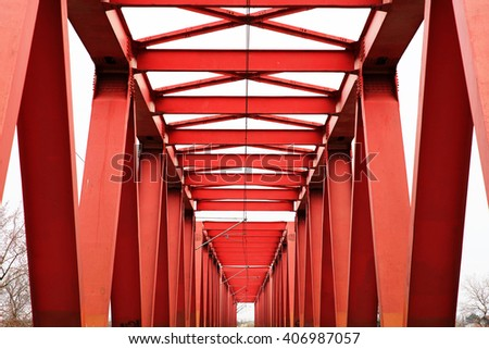 Railway abstract image - stock photo