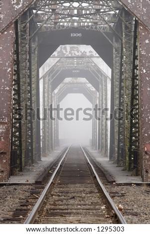 Railway bridge 1 - stock photo