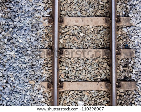 Railway from above angle - stock photo