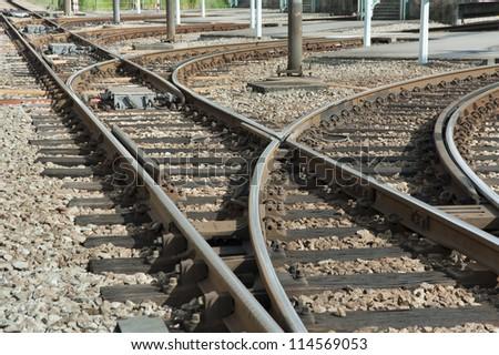 Railway in Hong Kong - stock photo