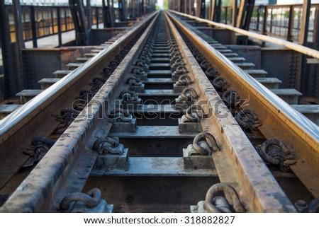 railway in ratchaburi - stock photo