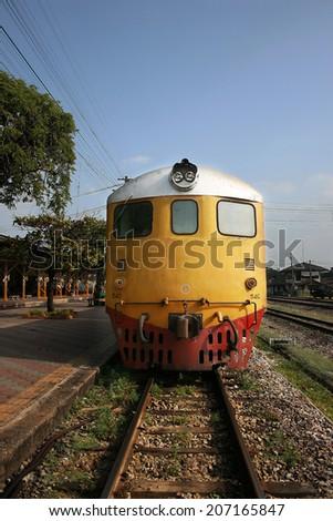 Railway In Thailand - stock photo