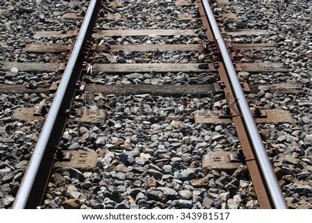 Railway,Thailand train station. - stock photo