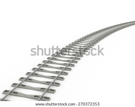 Railway track lines  Raster  iron - stock photo