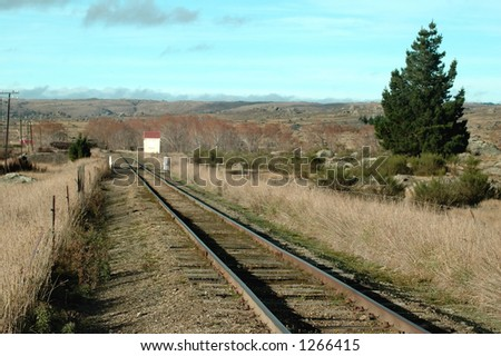 Railway Tracks in the country - stock photo