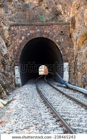 Railway tunnel  - stock photo