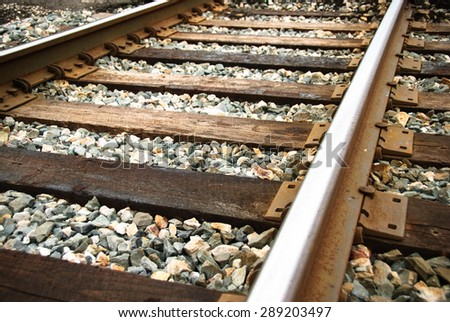 Railway up-close - stock photo