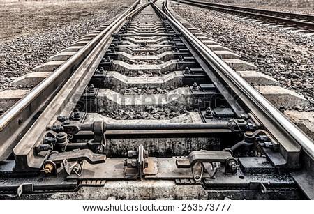 Railway.Ways to go to the horizon - stock photo