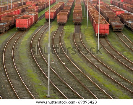 Railways and trains - stock photo