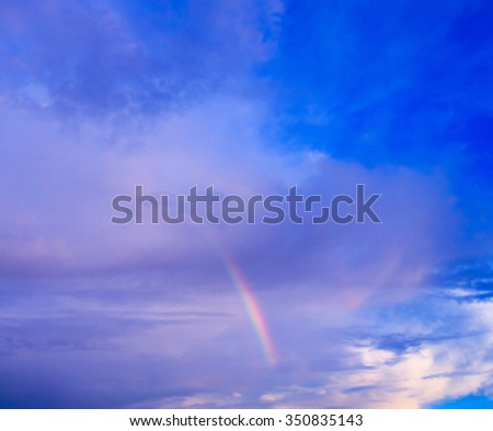 Rain and Sunshine After the Storm  - stock photo