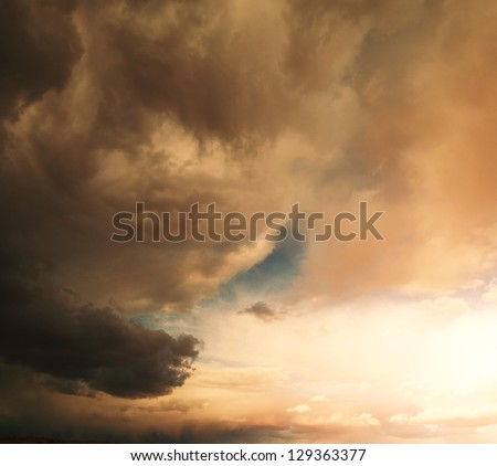 rain clouds - stock photo