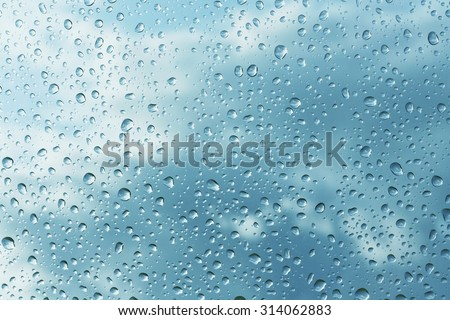 rain drops on glass - stock photo