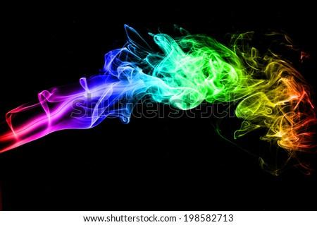 Rainbow. - stock photo