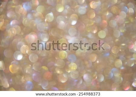 Rainbow bokeh - stock photo