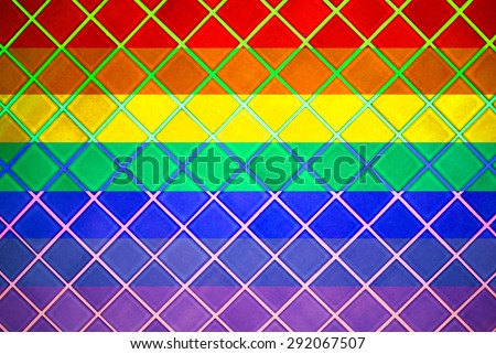 Rainbow , 7 colors ceramic tile in a toilet , color applied by reality. - stock photo
