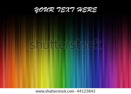 Rainbow colors frequencies, with your text here - stock photo