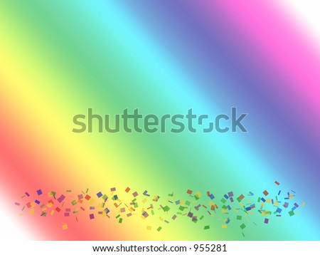 Rainbow Confetti - stock photo