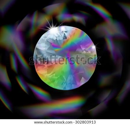 Rainbow diamond  - stock photo