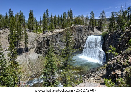Rainbow Falls at Devil's Postpile National Monument - stock photo