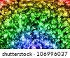 Rainbow fireworks effect - stock photo