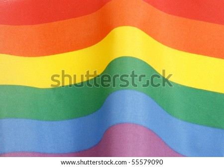 Rainbow flag - stock photo