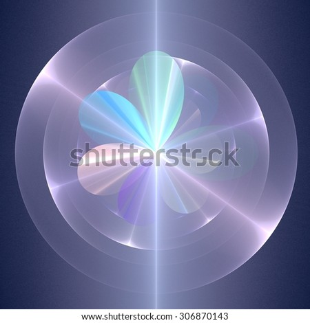 Rainbow flower - abstract fractal background - stock photo