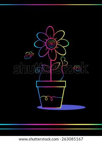 Rainbow Greeting  - stock photo