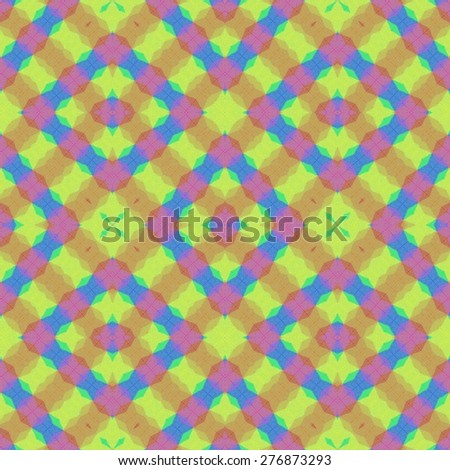 Rainbow mosaic pattern - stock photo