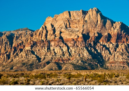 Rainbow Mountain at Red Rock Canyon - stock photo