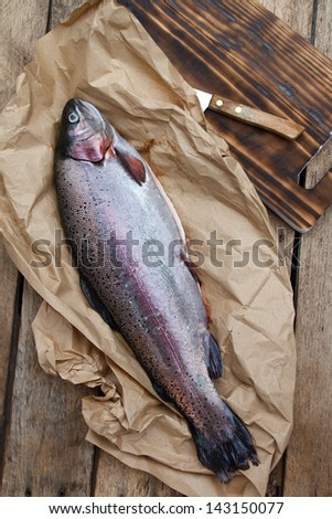 Rainbow trout (Oncorhynchus mykiss) - stock photo