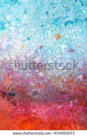 Rainbow Watercolour Background 6 - stock photo