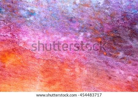Rainbow Watercolour Background 9 - stock photo