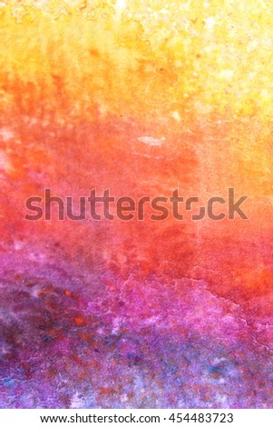 Rainbow Watercolour Background 2 - stock photo