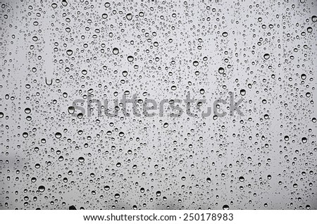 raindrops on the glass - stock photo