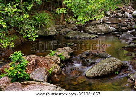 rainforest creek, near Cairns, North Queensland, Australia - stock photo