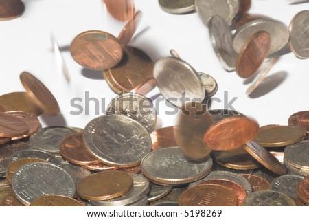 Raining Money - stock photo