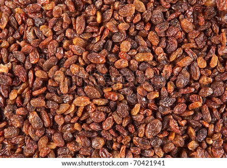 Raisins and currants background - stock photo