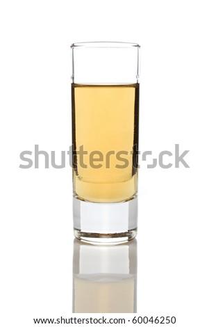 Rakija in a glass isolated on white background - stock photo