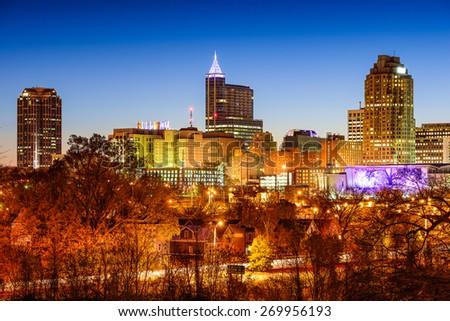 Raleigh, North Carolina, USA skyline. - stock photo