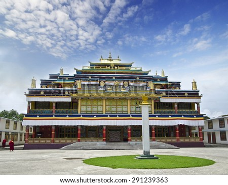 Ralong monastery at Sikkim , India - stock photo