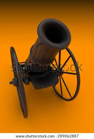 Ramadan cannon ready for work - stock photo