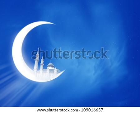 Ramadan Crescent - stock photo