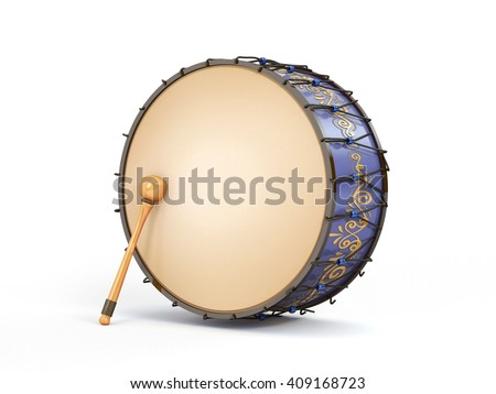 Ramadan drum 3D Rendered Isolated - stock photo